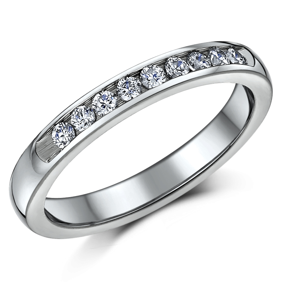 Titanium Bridal set cz engagement  eternity ring