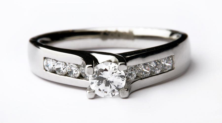 Cobalt solitaire Multi stone engagement ring Cobalt Rings at Elma UK Jewellery