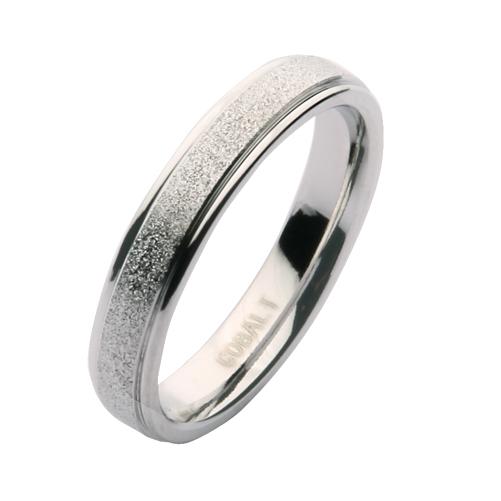 4mm Cobalt Sparkle Wedding Ring Band