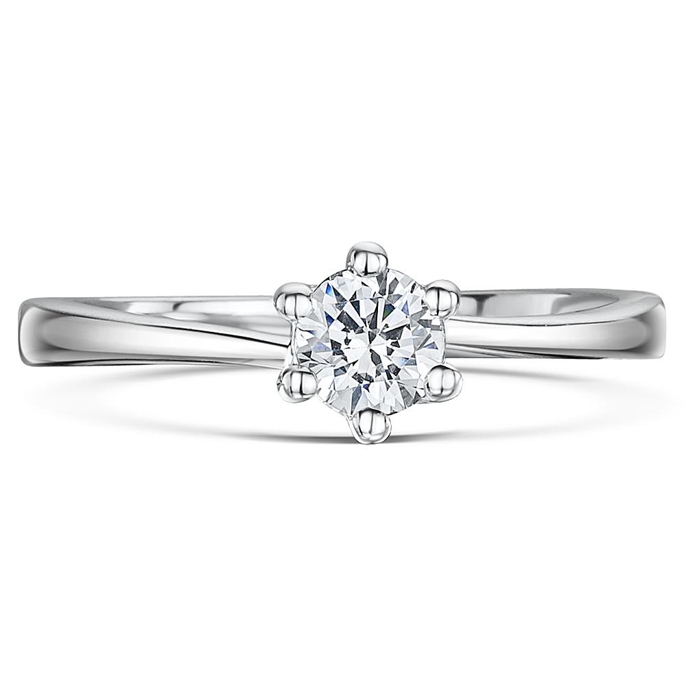 Engagement Rings Jewellery Quarter: 9ct White Gold Quarter Carat Six Claw Fine Diamond