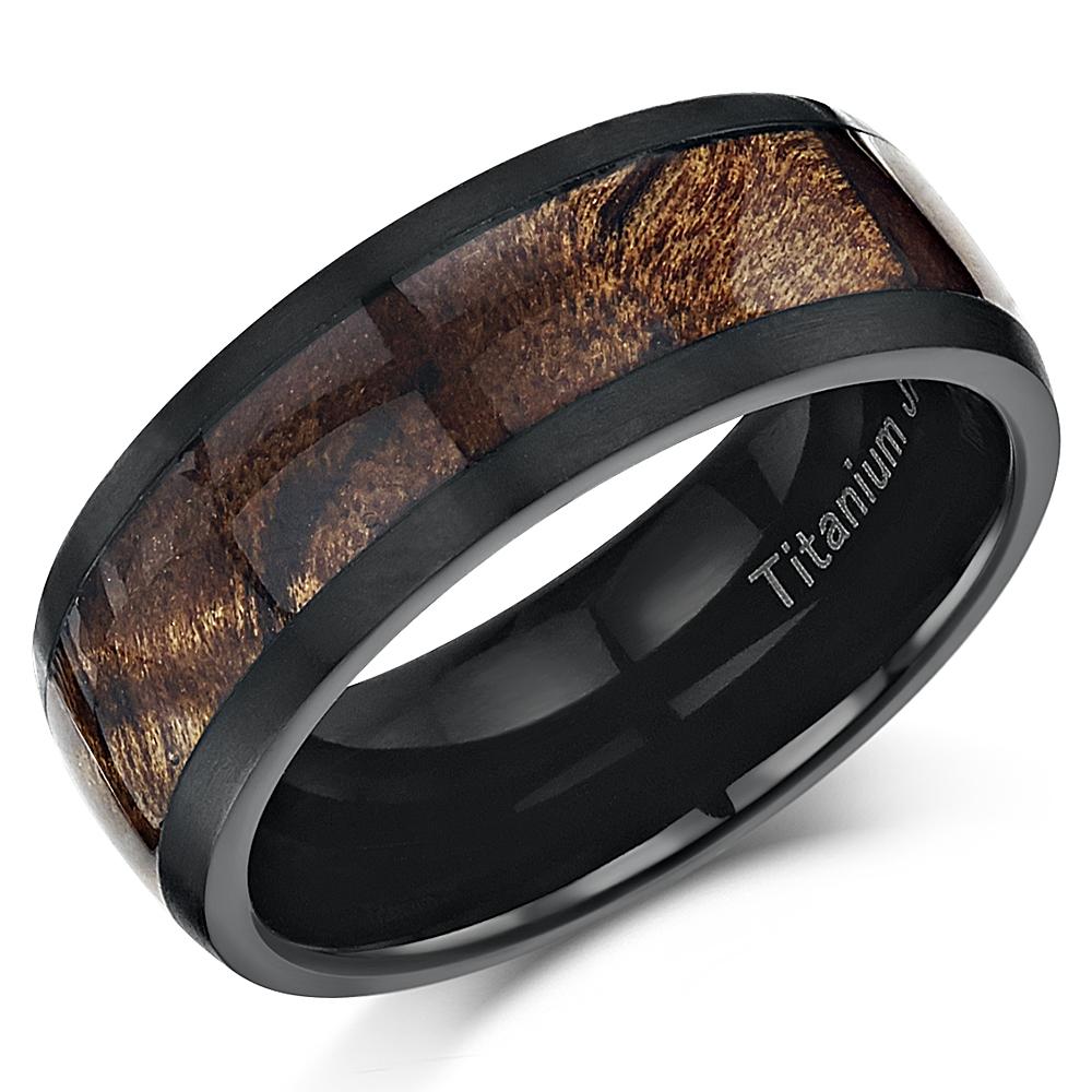 Titanium Koa Wedding Rings
