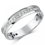 4mm 9ct White Gold Third Carat Diamond Eternity Ring