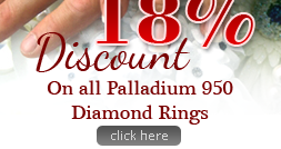 18% Discount on Palladium Diamond Rings