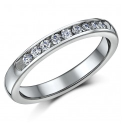 3.5mm Titanium Eternity Wedding Ring