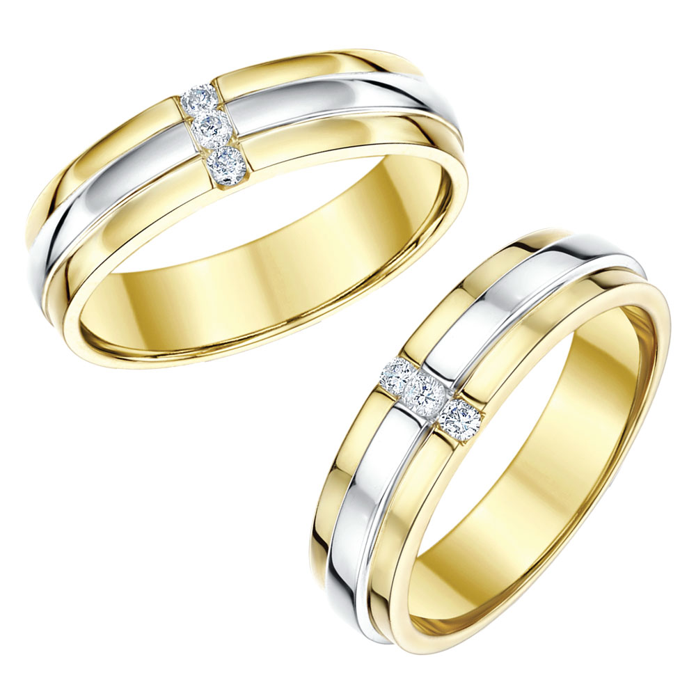 Gold wedding ring sets for bride and groom wedding ideas for Wedding ring sets uk