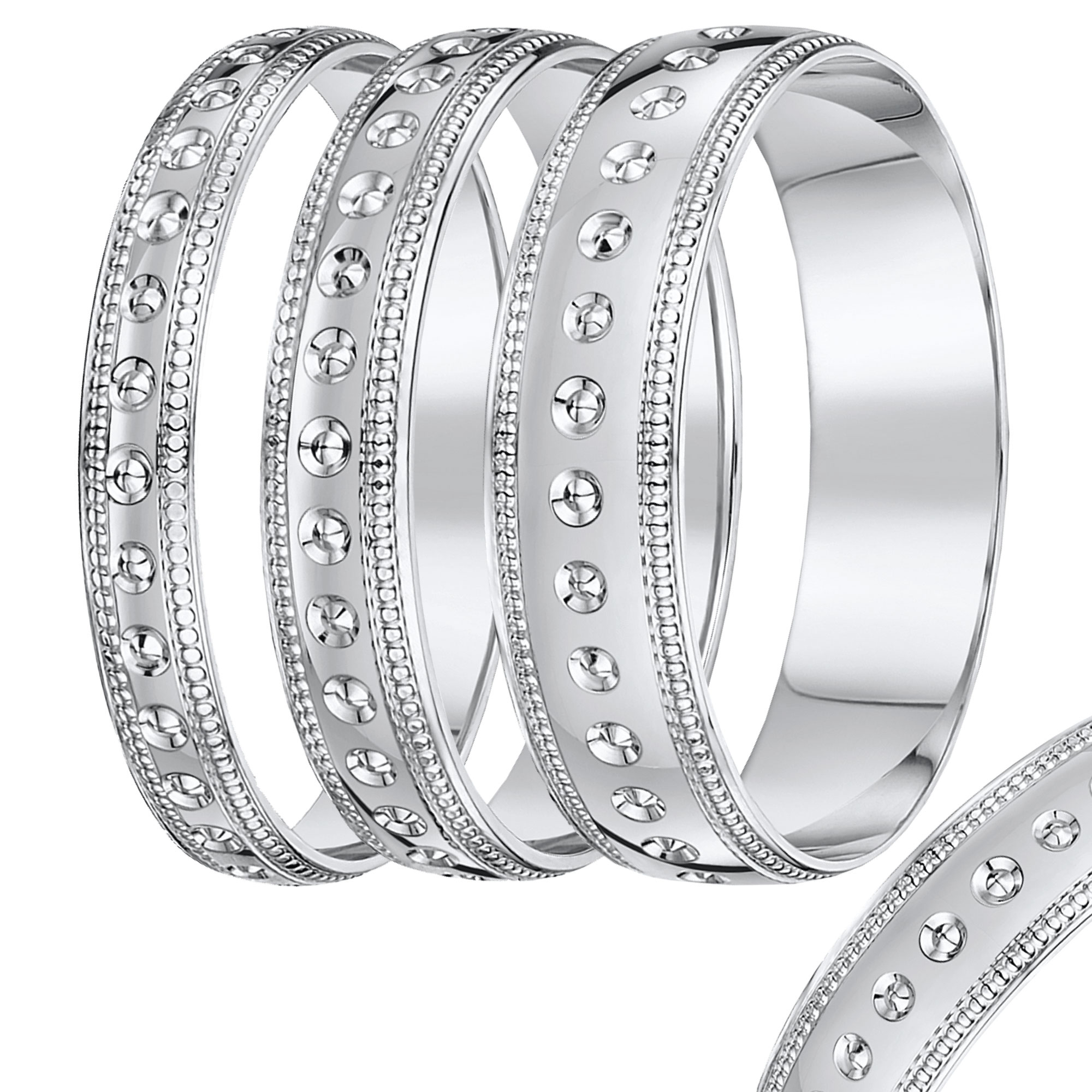 Circle Design with Millgrain Edge Wedding rind band 3mm-8mm