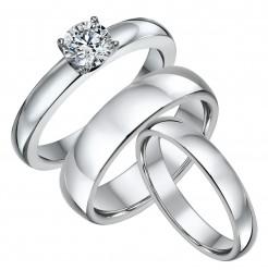 His & Hers Engagment & Court Wedding Bands 4&6mm