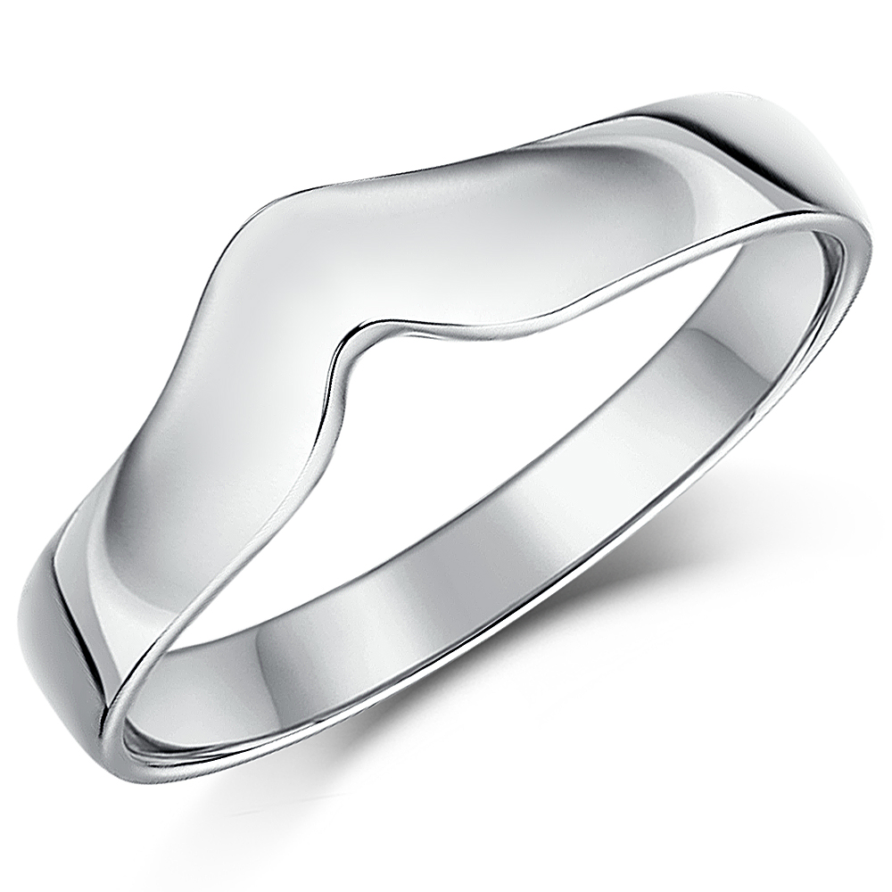 3mm Titanium Wishbone Wedding Ring Band