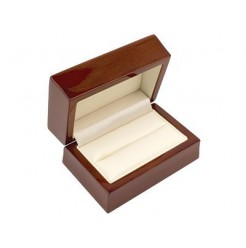 Wooden Mahogany Double Ring Box