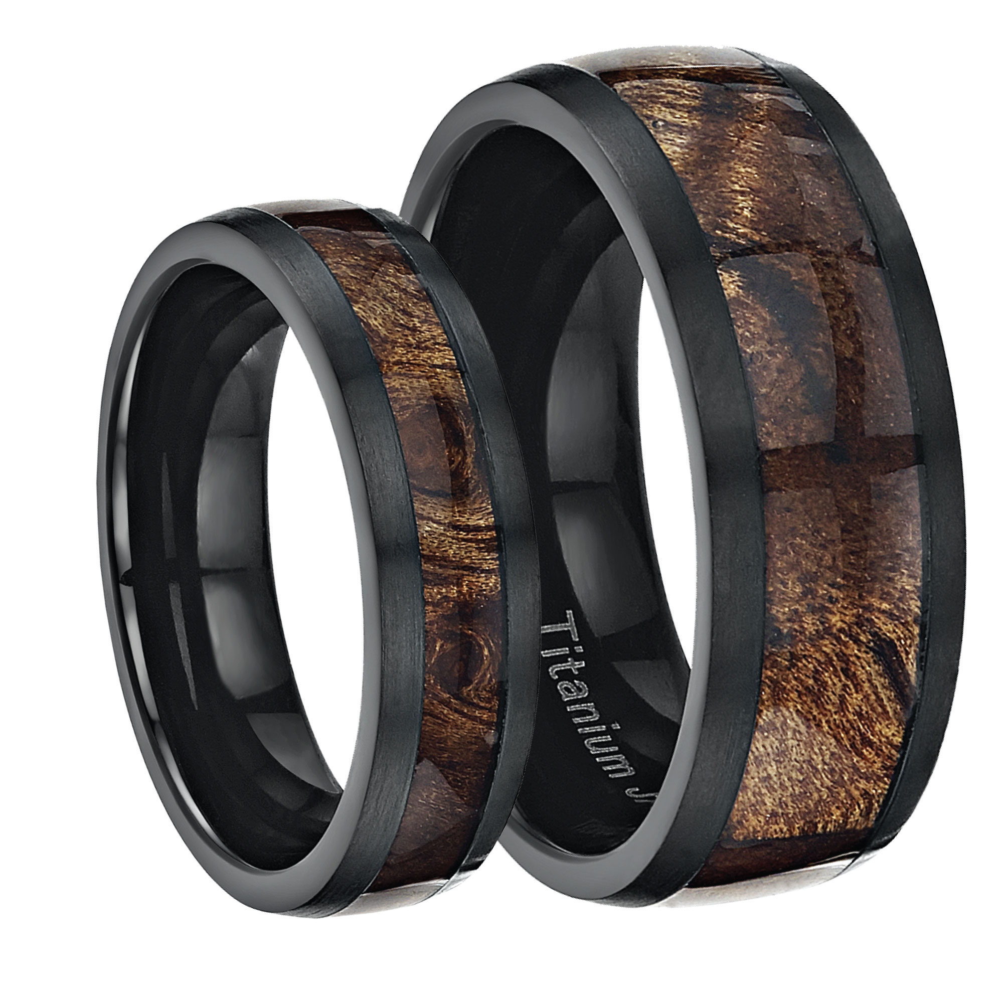 black band zirconium rings heavy stone
