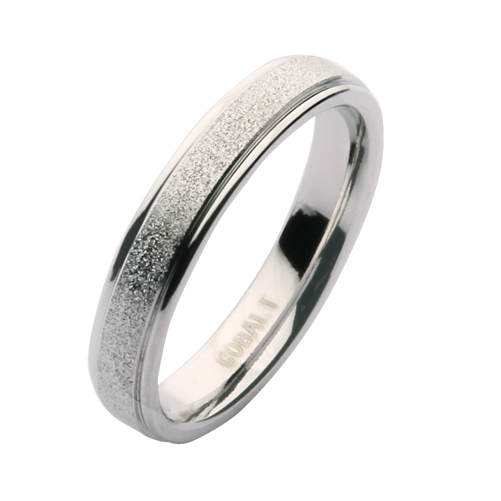 4mm Cobalt Sparkle Wedding Ring Band