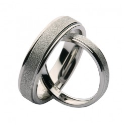 His & Hers 4&6mm Cobalt Sparkle Wedding Ring Bands