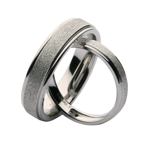 His U0026 Hers 4u00266mm Cobalt Sparkle Wedding Ring Bands