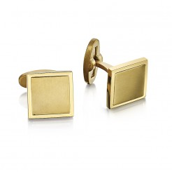 Men's Gold Titanium Square Cufflinks