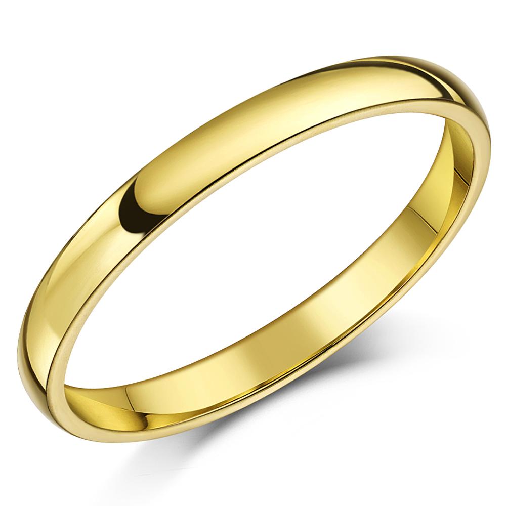 "Shaped Wedding Band: 18ct Yellow Gold ""Court Shaped"" Wedding Ring"