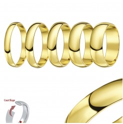 9ct Yellow Gold Court Shaped Wedding Ring Band