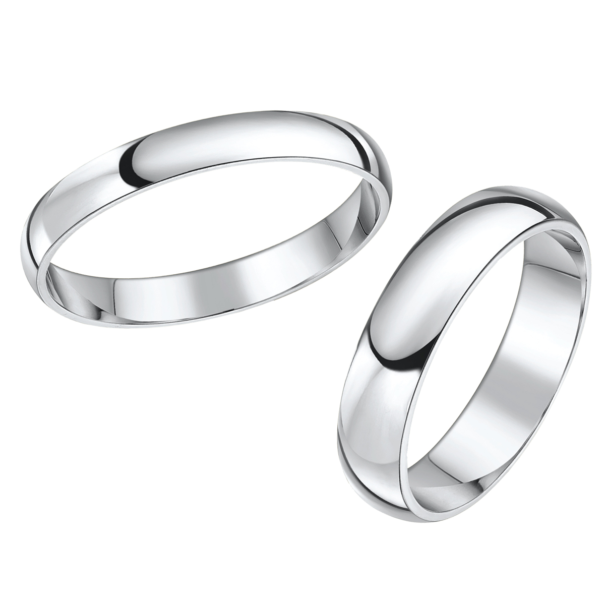 His and Hers Designer Two Color Gold Wedding Ring Matching Sets