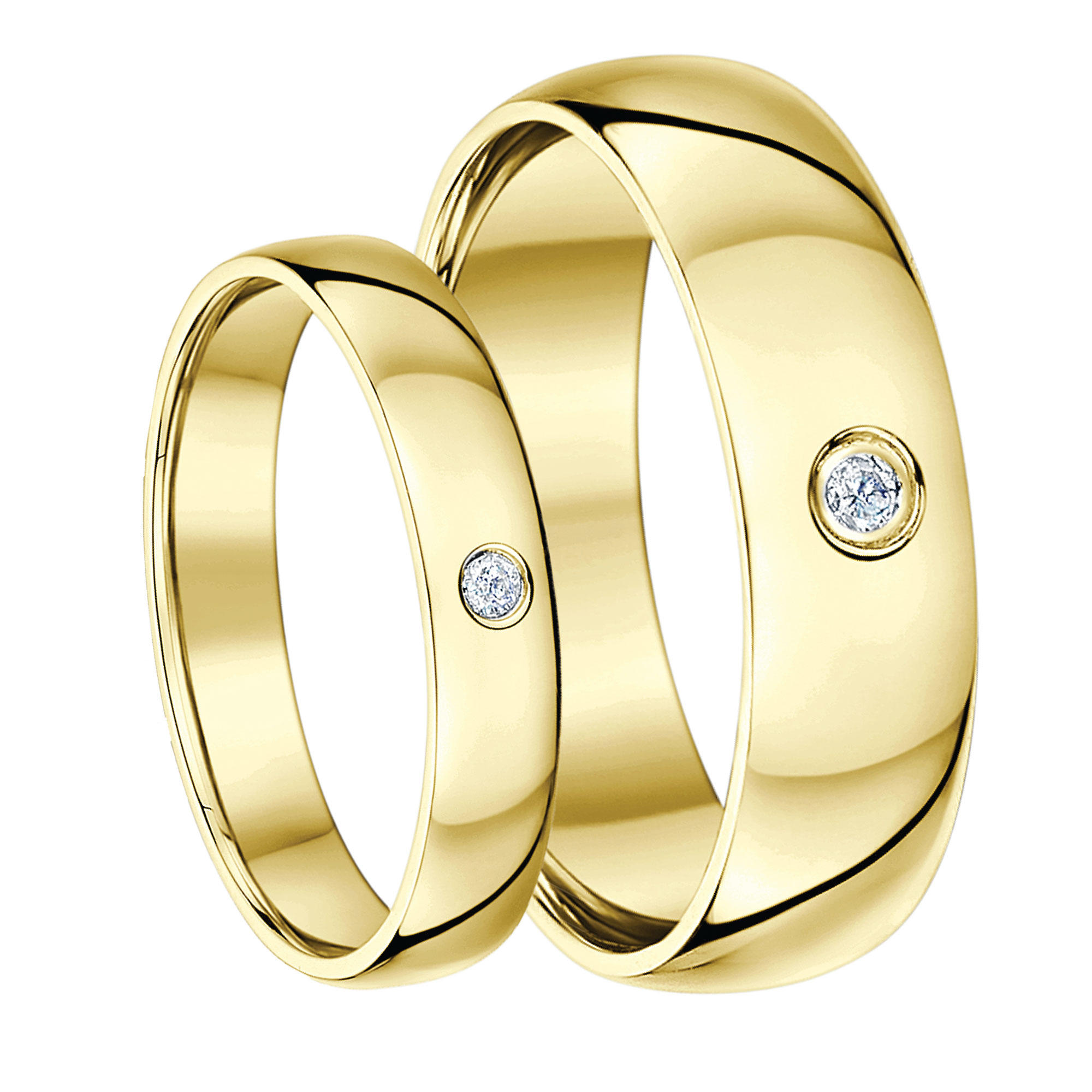 Matching Yellow Gold Wedding Ring Sets His Hers Sets For Groom