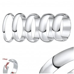 950 Palladium ''D'' Shaped Wedding Ring