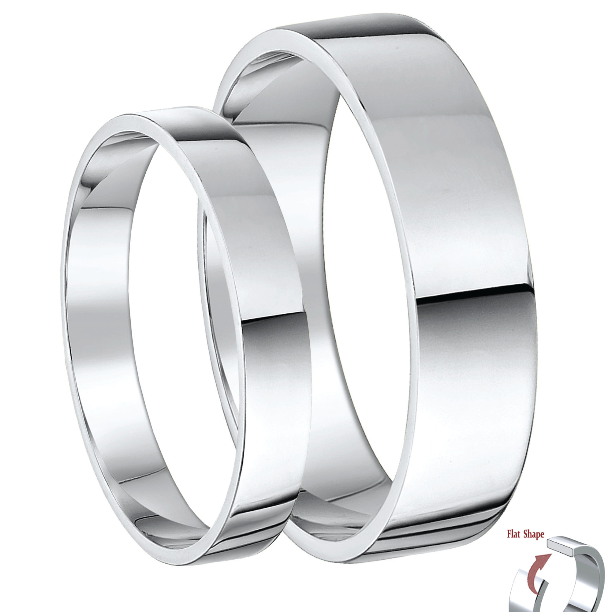wedding band rings classic bands flat catbird