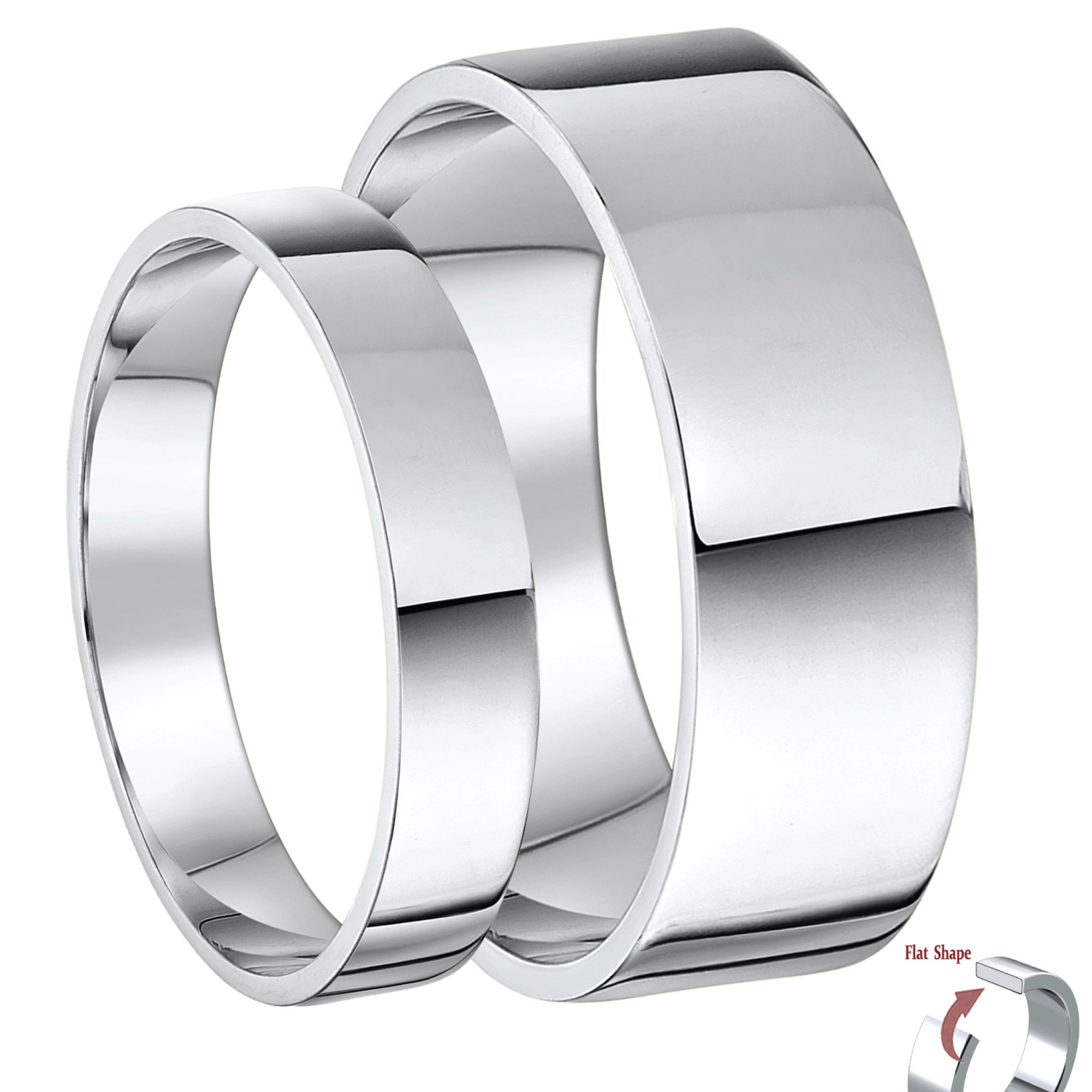 Palladium Wedding Rings Plain Classic Palladium 500 and 950