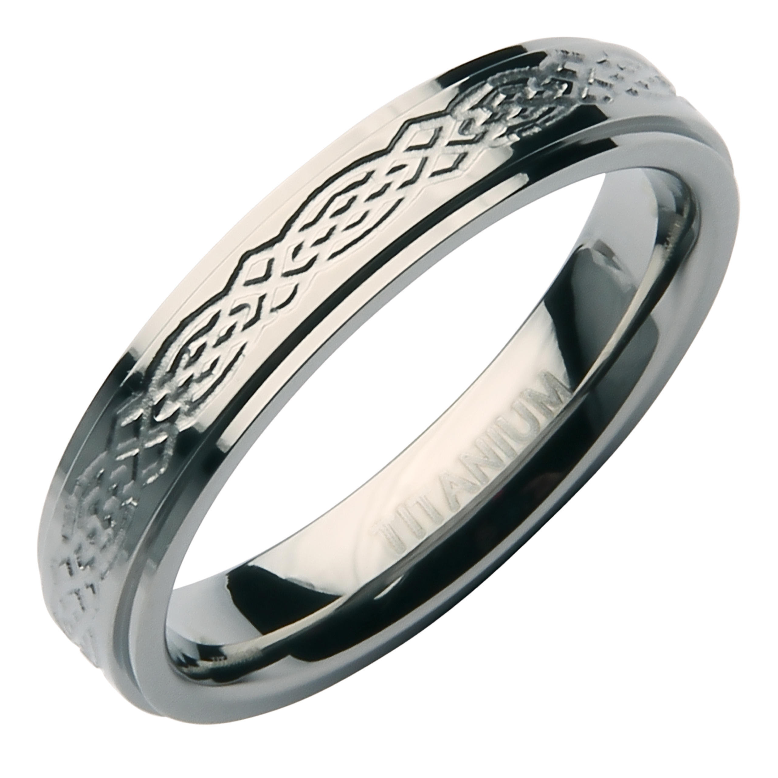 4mm Stunning Designed Titanium Wedding Band