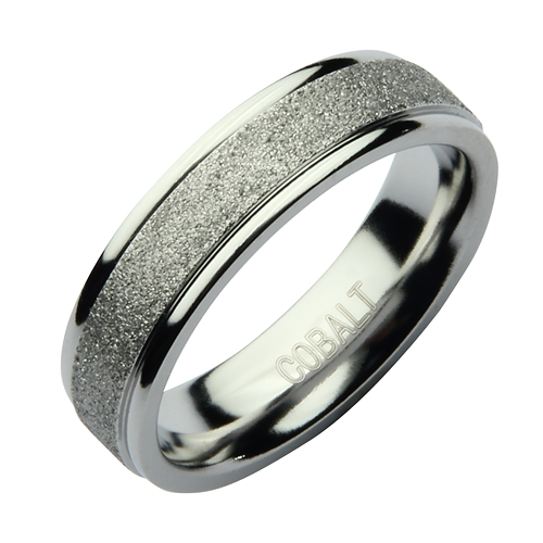 6mm Cobalt Sparkle Wedding Ring Band