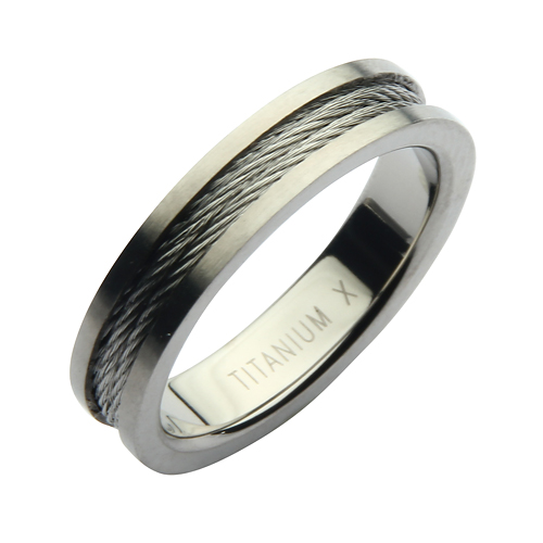 5mm Titanium Steel Cable Ring