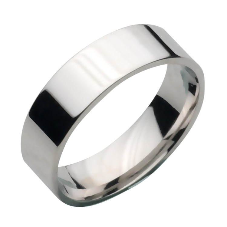6mm Tungsten Flat Court Wedding Ring Band - Tungsten Rings ...