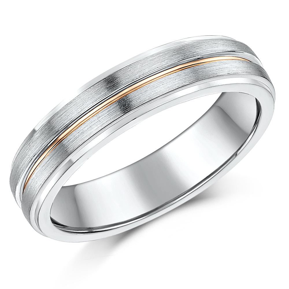 5mm 9ct White Rose Gold Wedding Ring Band Sale Limited Stock