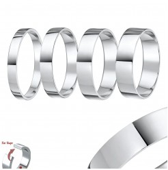 950 Palladium ''Flat Court'' Shaped Wedding Ring