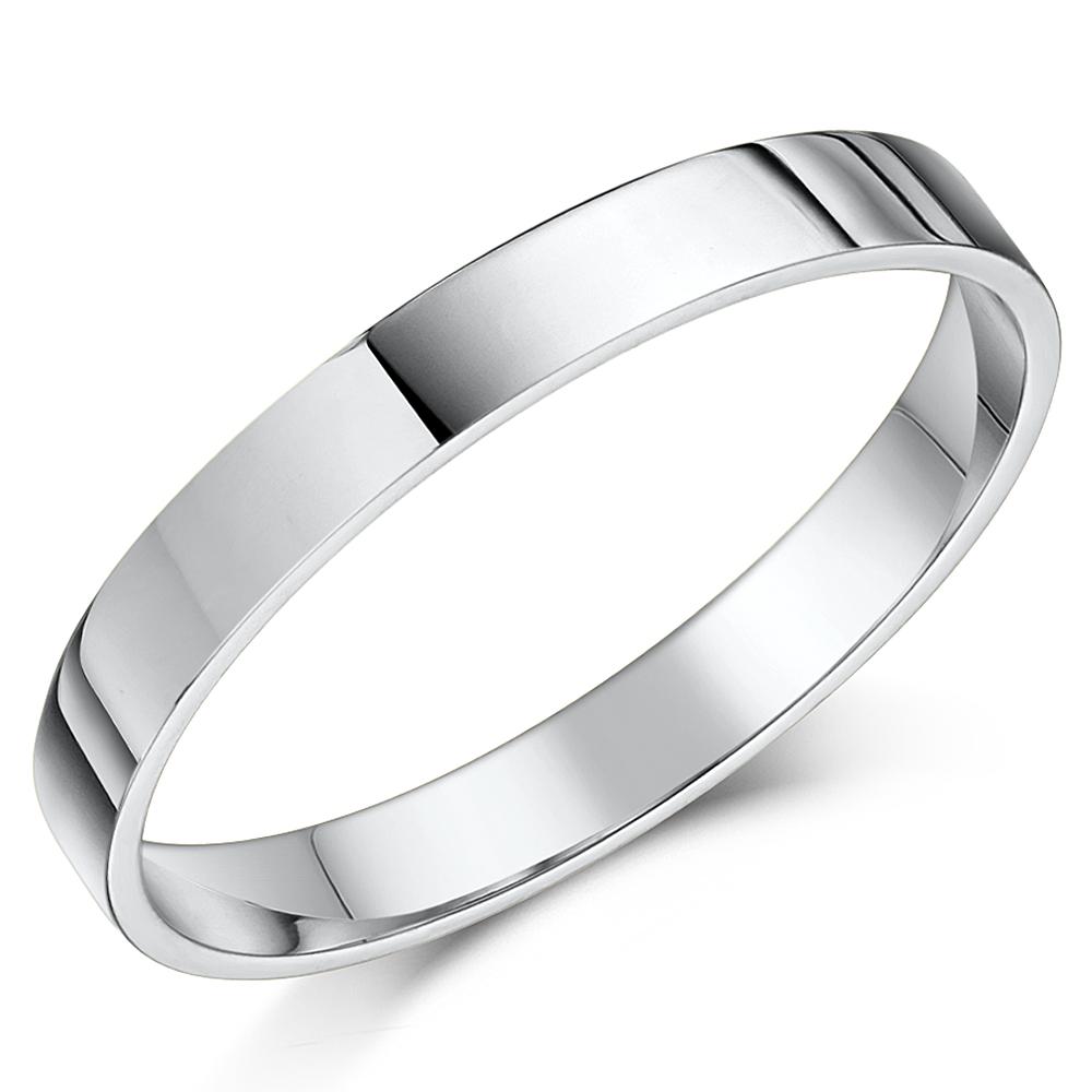 His Hers 35mm Palladium 950 Heavy Flat Court Wedding Rings