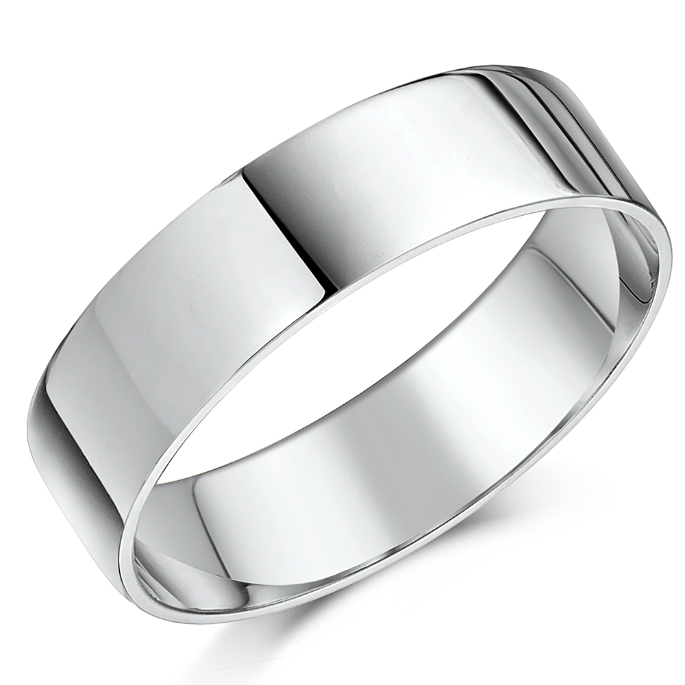 Cobalt Wedding Rings Flat Court Comfort 4&6mm His & Hers Matching Bands