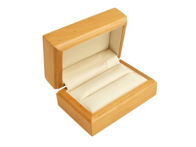 Wooden Maple Double Ring Box