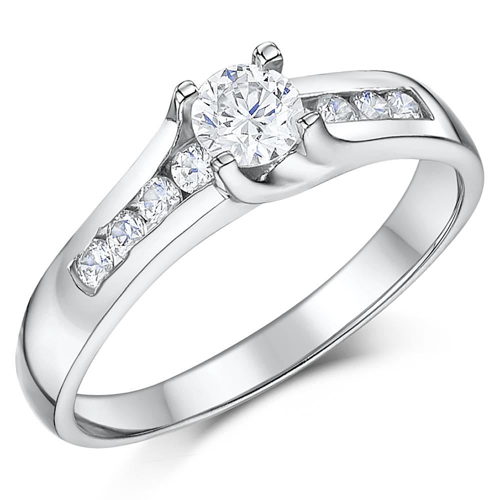 Cobalt Solitaire Multi Stone Engagement Amp 3mm Wedding