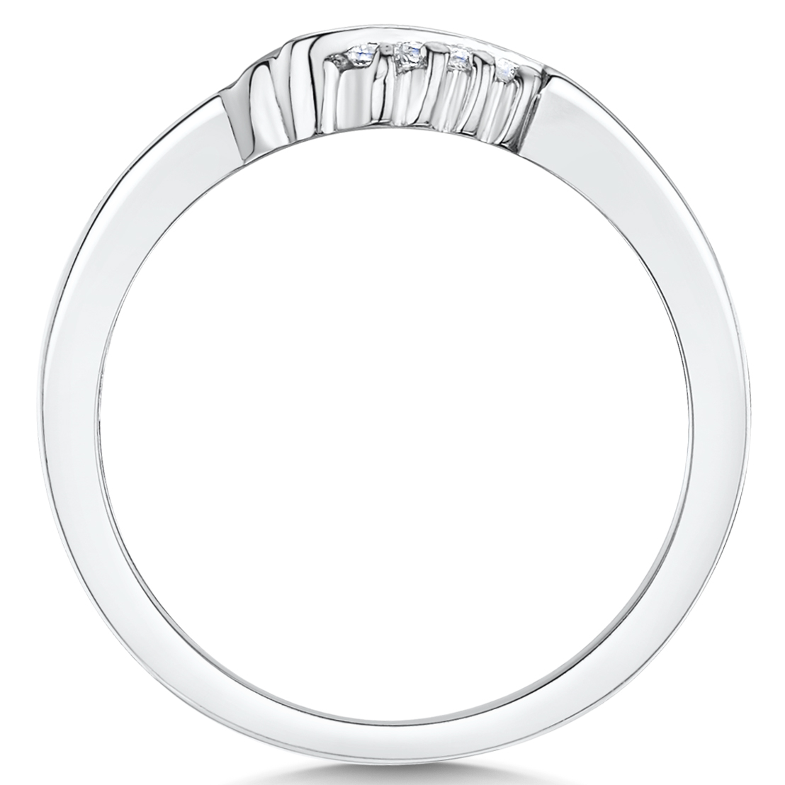 Cobalt Engagement 4 Stone set ring