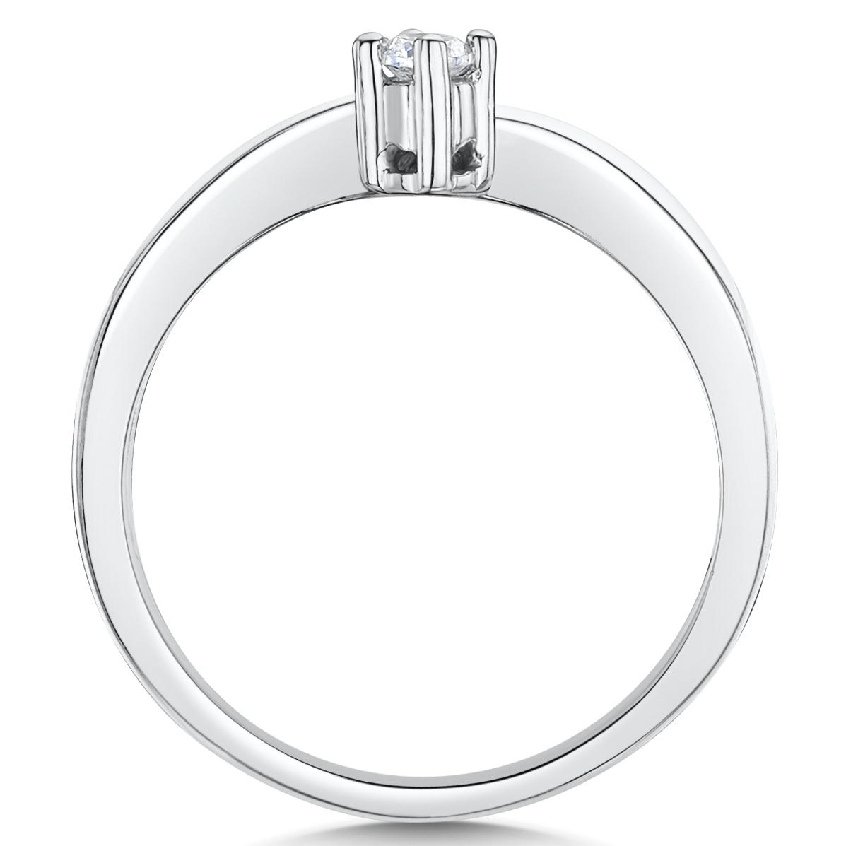Cobalt Engagement single stone set wishbone ring