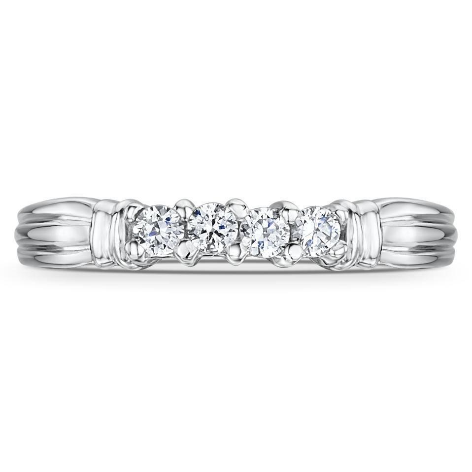 Cobalt Engagement Eternity 4 Stone 3mm Ring