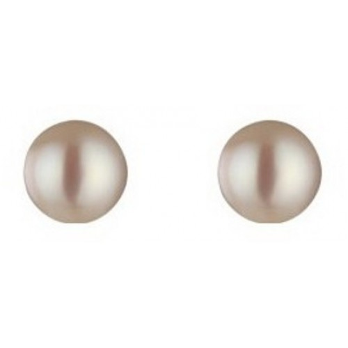 7mm-8mm Sterling Silver 925 Stud Pearl Earrings