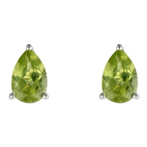 Peridot Sterling Silver Pendant & Earring Set Green Earrings and Pendant