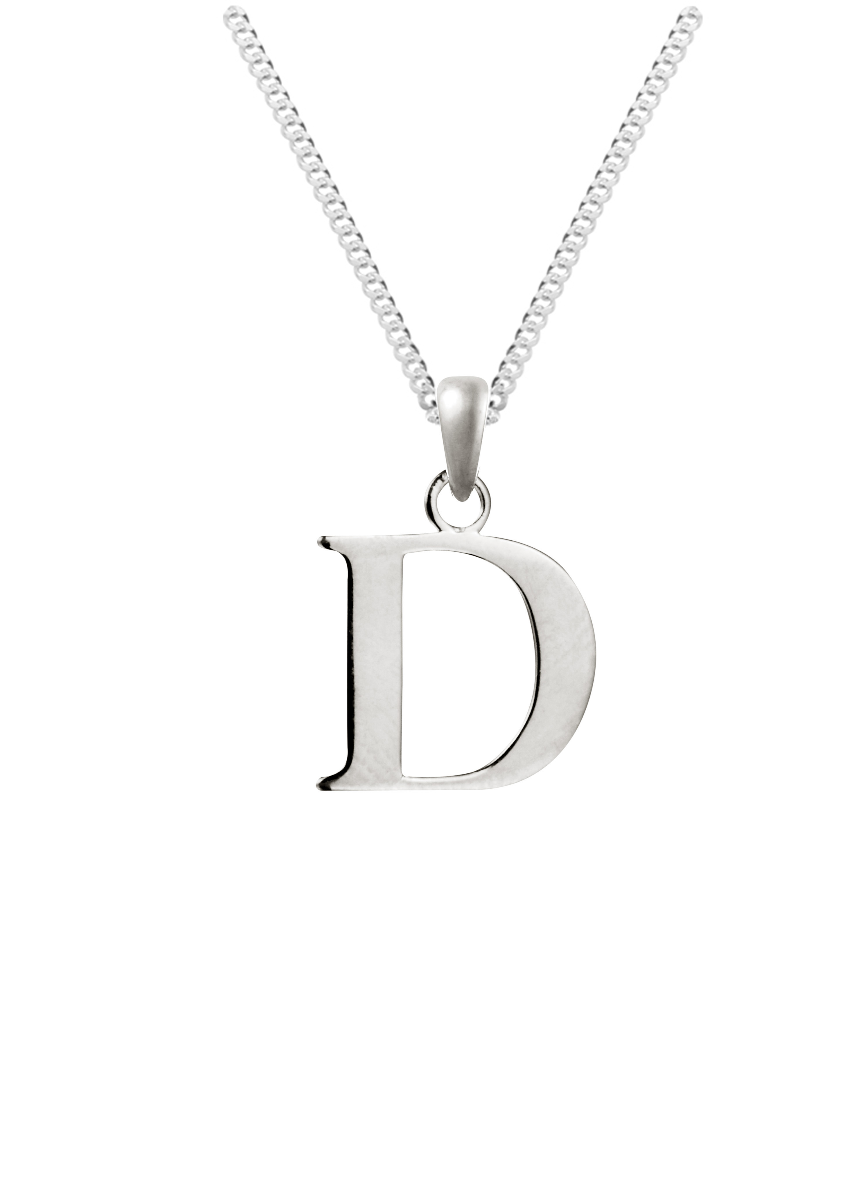 Silver initial pendant with 18 curb chain sterling silver 925 silver initial pendant with 18 curb chain sterling silver 925 hallmarked aloadofball Gallery