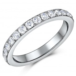 3mm Titanium CZ Full Eternity Ring