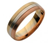 Three Colour Gold Wedding Rings