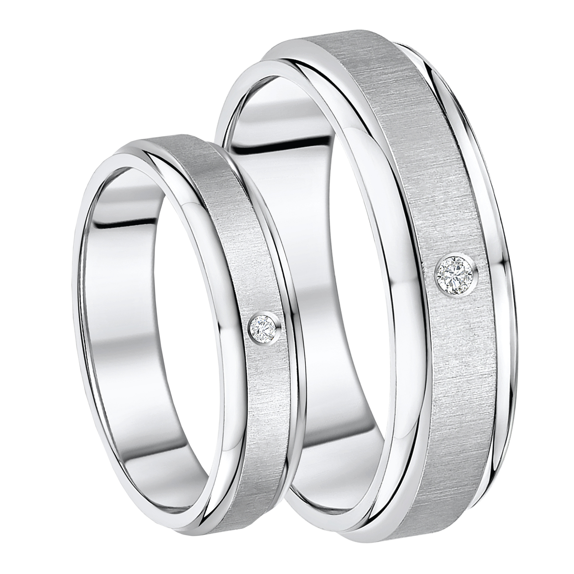 His & Hers Ring Sets Titanium sets at Elma Jewellery Mobile Site