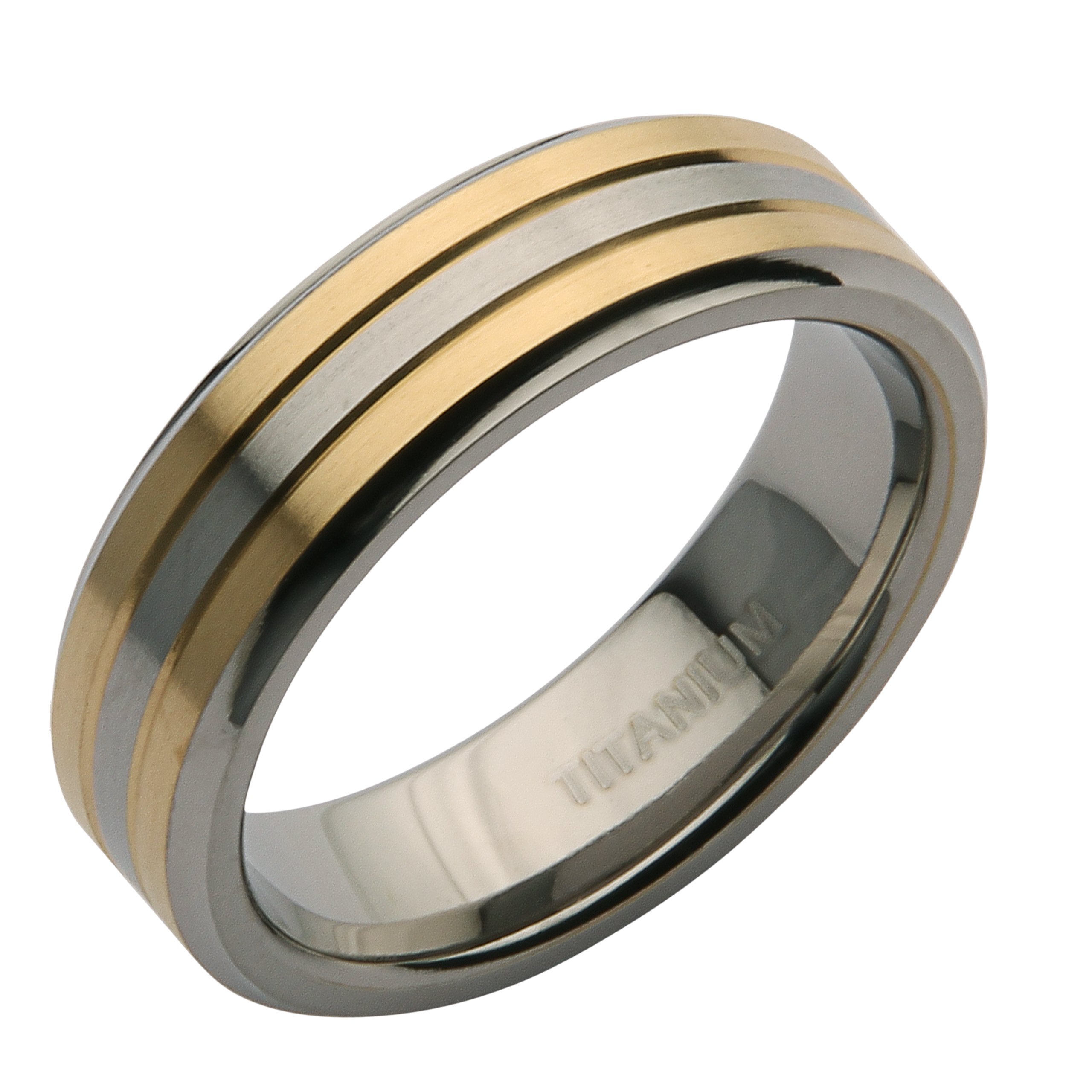 6mm titanium two tone wedding ring band titanium rings at elma
