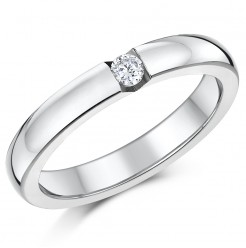 3mm Titanium CZ Stone Engagement/Wedding Ring Band