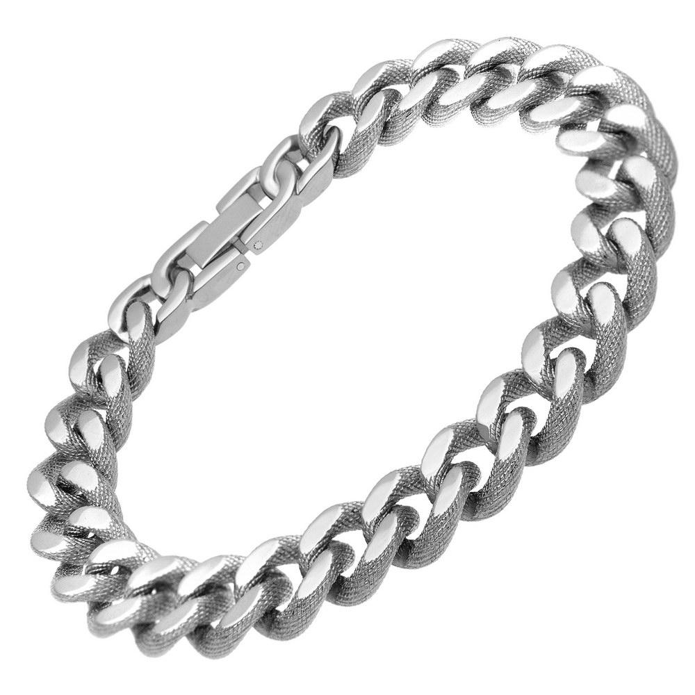 Men's Pure Titanium Curb Chain Patterned Bracelet