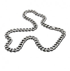 10mm Mens Titanium Curb Chain Link Necklace