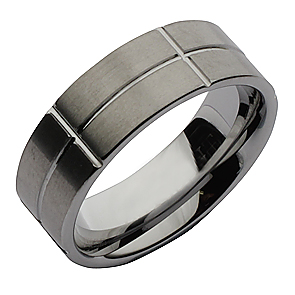 8mm Tungsten Designed Wedding Ring Band