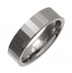 6mm Designed Tungsten Wedding Band